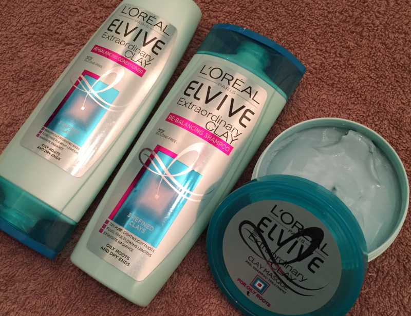 First Impression: L'oreal Elvive Extraordinary Clay Range